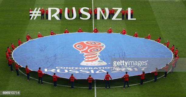 General view inside the stadium prior to the FIFA Confederations Cup Russia 2017 Group A match between Russia and New Zealand at Saint Petersburg...