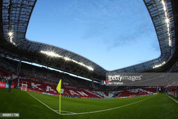 General view inside the stadium prior to the FIFA Confederations Cup Russia 2017 Group B match between Germany and Chile at Kazan Arena on June 22...