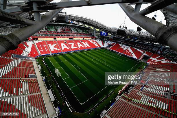 General view inside the stadium prior to the FIFA Confederations Cup Russia 2017 SemiFinal between Portugal and Chile at Kazan Arena on June 28 2017...