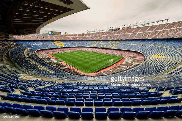 General view inside the stadium prior to the La Liga match between Barcelona and Las Palmas at Camp Nou on October 1 2017 in Barcelona Spain