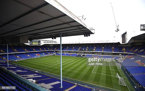 General view inside the stadium prior to the Premier League match between Tottenham Hotspur and West Bromwich Albion at White Hart Lane on January 14...