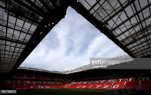 A general view inside the stadium prior to the Premier League match between Manchester United and AFC Bournemouth at Old Trafford on March 4 2017 in...