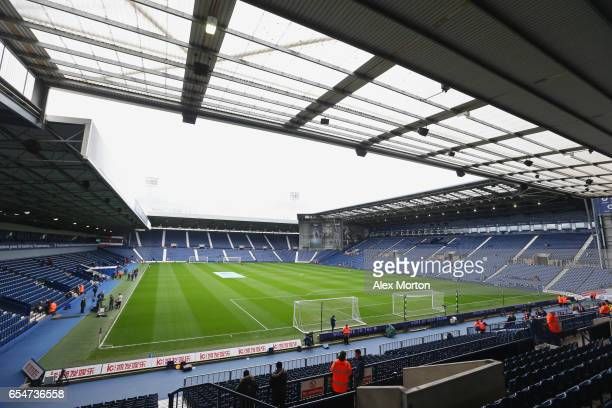 A general view inside the stadium prior to the Premier League match between West Bromwich Albion and Arsenal at The Hawthorns on March 18 2017 in...