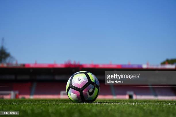General view inside the stadium prior to the Premier League match between AFC Bournemouth and Chelsea at Vitality Stadium on April 8 2017 in...