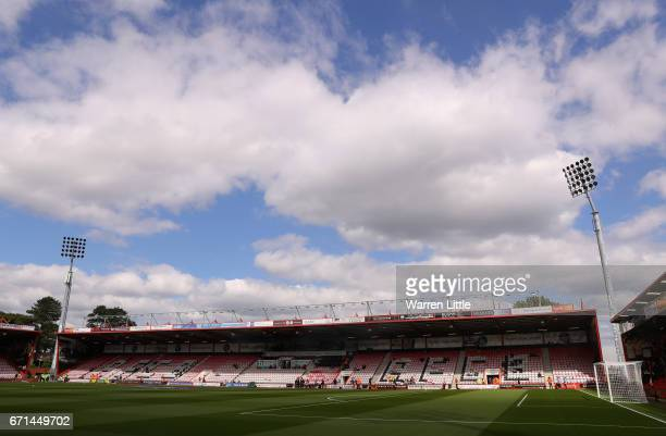 A general view inside the stadium prior to the Premier League match between AFC Bournemouth and Middlesbrough at the Vitality Stadium on April 22...