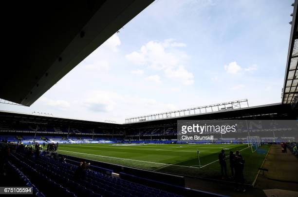 General view inside the stadium prior to the Premier League match between Everton and Chelsea at Goodison Park on April 30 2017 in Liverpool England