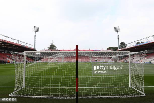 General view inside the stadium prior to the Premier League match between AFC Bournemouth and Stoke City at the Vitality Stadium on May 6 2017 in...