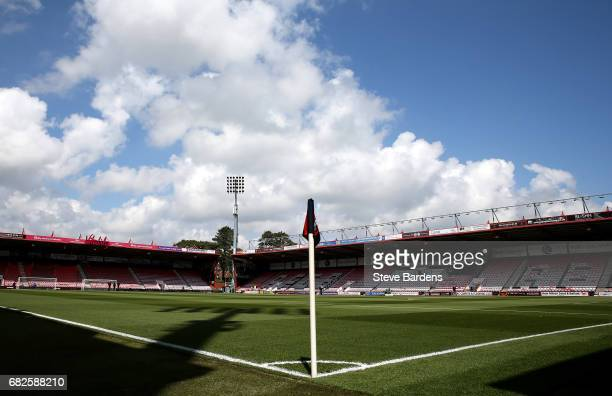 General view inside the stadium prior to the Premier League match between AFC Bournemouth and Burnley at Vitality Stadium on May 13 2017 in...
