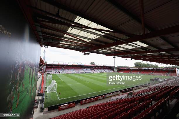 General view inside the stadium prior to the Premier League match between AFC Bournemouth and Watford at Vitality Stadium on August 19 2017 in...