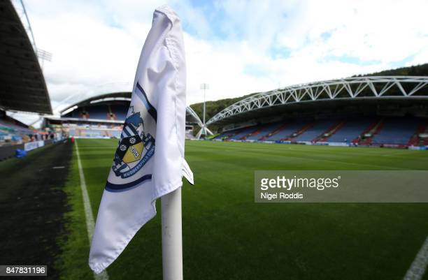 General view inside the stadium prior to the Premier League match between Huddersfield Town and Leicester City at John Smith's Stadium on September...