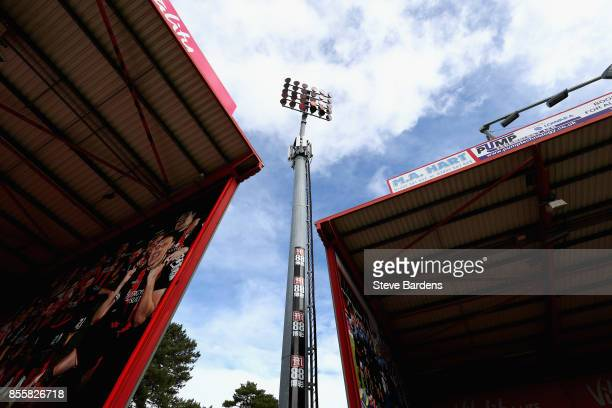 General view inside the stadium prior to the Premier League match between AFC Bournemouth and Leicester City at Vitality Stadium on September 30 2017...