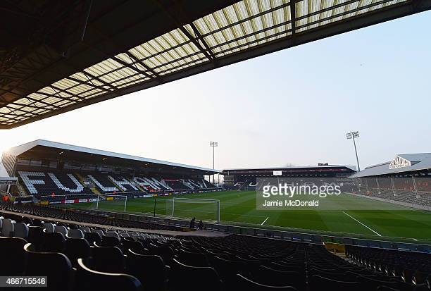 A general view inside the stadium prior to the Sky Bet Championship match between Fulham and Leeds United at Craven Cottage on March 18 2015 in...