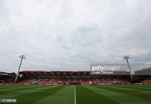 A general view inside the stadium prior to the Sky Bet Championship match between AFC Bournemouth and Bolton Wanderers at Goldsands Stadium on April...