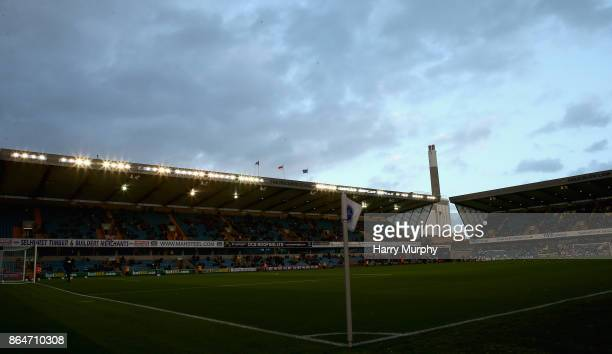 A general view inside the stadium prior to the Sky Bet Championship match between Millwall and Birmingham City at The Den on October 21 2017 in...