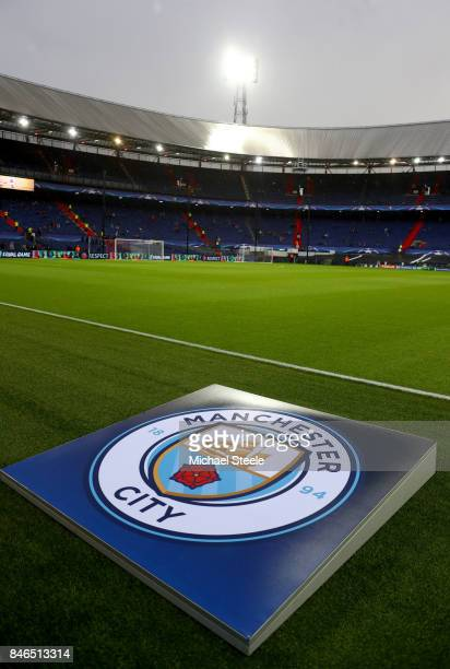 General view inside the stadium prior to the UEFA Champions League group F match between Feyenoord and Manchester City at Feijenoord Stadion on...