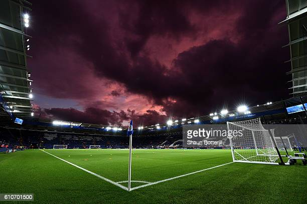 A general view inside the stadium prior to the UEFA Champions League Group G match between Leicester City FC and FC Porto at The King Power Stadium...