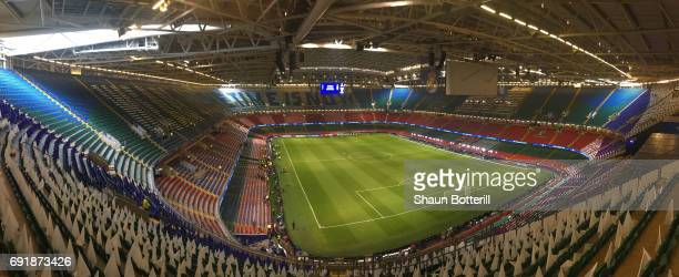 A General view inside the stadium prior to the UEFA Champions League Final between Juventus and Real Madrid at National Stadium of Wales on June 3...