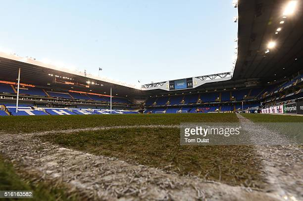 A general view inside the stadium prior to the UEFA Europa League round of 16 second leg match between Tottenham Hotspur and Borussia Dortmund at...