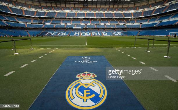 General view inside the stadium the UEFA Champions League group H match between Real Madrid and APOEL Nikosia at Estadio Santiago Bernabeu on...