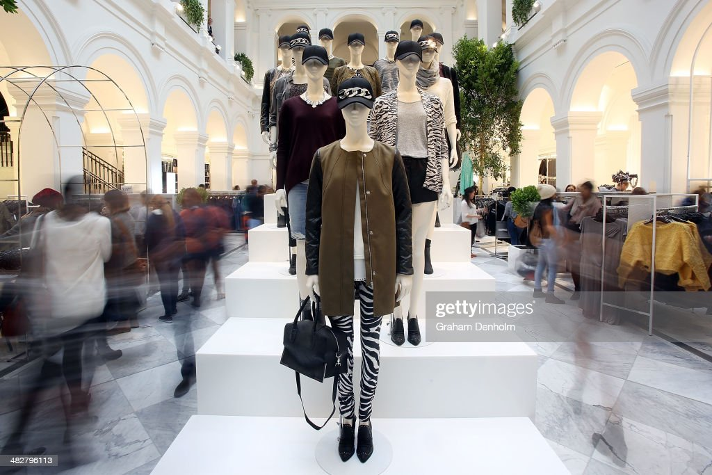 A general view inside the store at the opening of the first H&M Australia store at the GPO on April 5, 2014 in Melbourne, Australia.