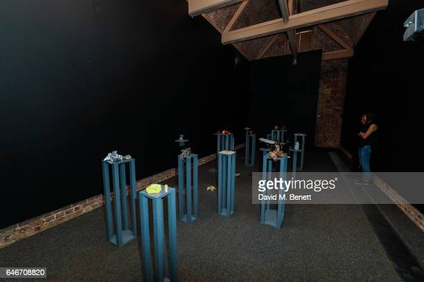 A general view inside the Tania Bruguera Douglas Gordon Laure Prouvost Cally Spooner Installation at The Serpentine Sackler Gallery on March 1 2017...
