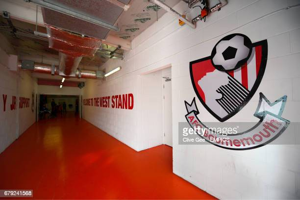 General view inside the West Stand of Dean Court