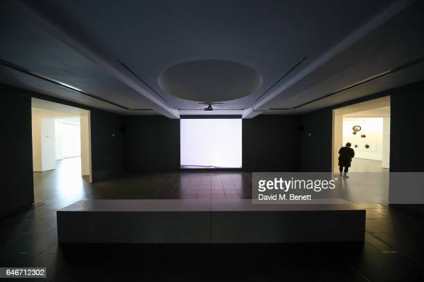 A general view inside the World View John Latham Installation at The Serpentine Gallery on March 1 2017 in London England