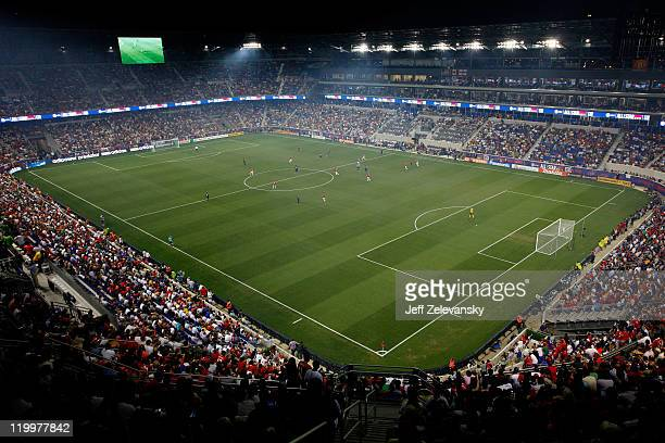 A general view is seen as the Manchester United take on the MLS AllStars during the MLS AllStar Game at Red Bull Arena on July 27 2011 in Harrison...