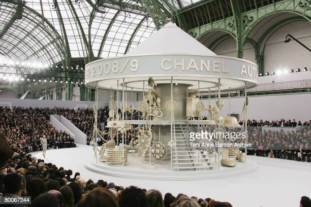 A general view is seen at the Chanel Fashion show during Paris Fashion Week FallWinter 20082009 at the Grand Palais on February 29 2008 in Paris...