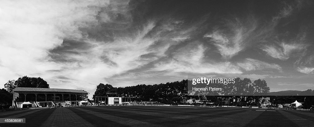 A general view is seen during day four of the first test match between New Zealand and the West Indies at University Oval on December 6 2013 in...