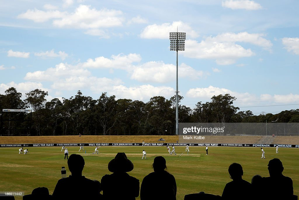 A general view is seen during day three of the Sheffield Shield match between the New South Wales Blues and the Tasmania Tigers at Blacktown International Sportspark on November 1, 2013 in Sydney, Australia.