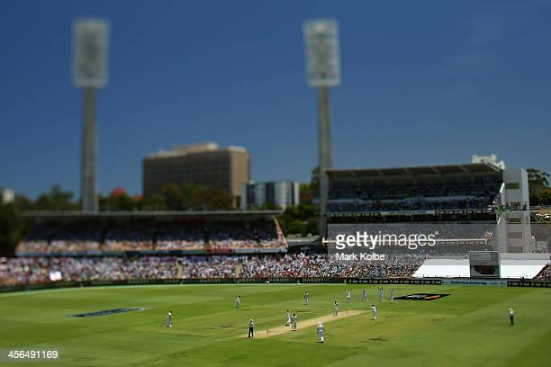 A general view is seen during day two of the Third Ashes Test Match between Australia and England at WACA on December 14 2013 in Perth Australia