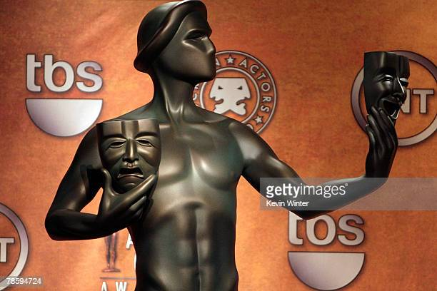 A general view is seen during the 14th annual Screen Actors Guild awards nominations annoucement held in the SilverScreen Theater at the Pacific...