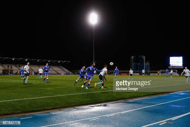 A general view is seen during the FFA Cup round of 16 match between between South Melbourne FC and Sorrento FC at Lakeside Stadium on August 23 2017...