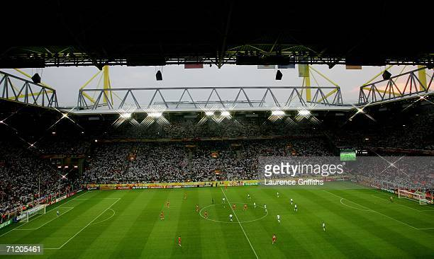 A general view is seen during the FIFA World Cup Germany 2006 Group A match between Germany and Poland at the Stadium Dortmund on June 14 2006 in...