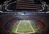 A general view is seen during the first quarter as the Mississippi Rebels take on the Oklahoma State Cowboys during the Allstate Sugar Bowl at...