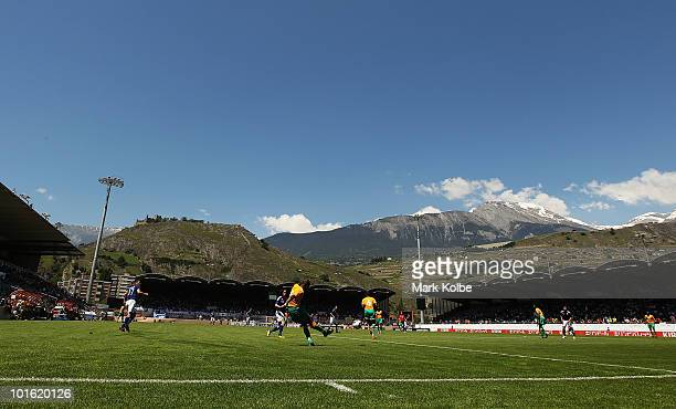 A general view is seen during the Japan v Ivory Coast International Friendly match at Stade de Toubillon on June 4 2010 in Sion Switzerland