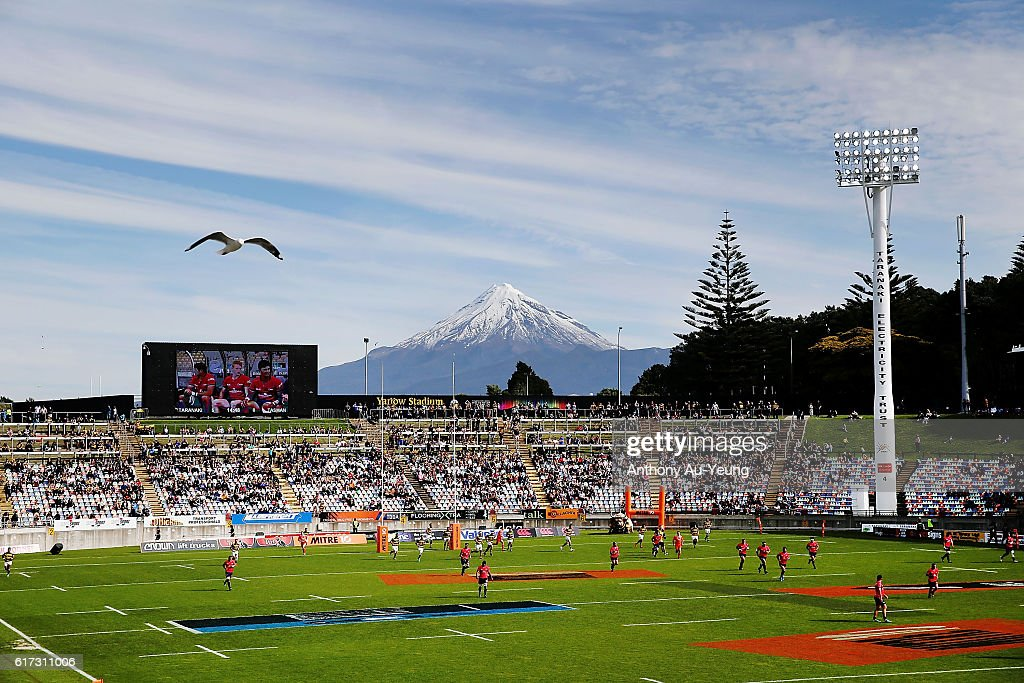 A general view is seen during the Mitre 10 Cup Semi Final match between Taranaki and Tasman on October 23, 2016 in New Plymouth, New Zealand.