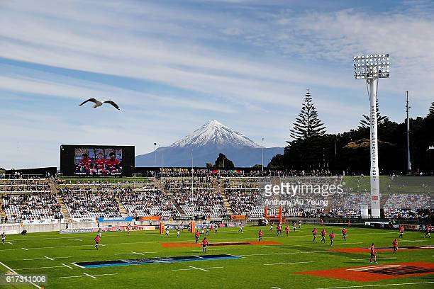 A general view is seen during the Mitre 10 Cup Semi Final match between Taranaki and Tasman on October 23 2016 in New Plymouth New Zealand