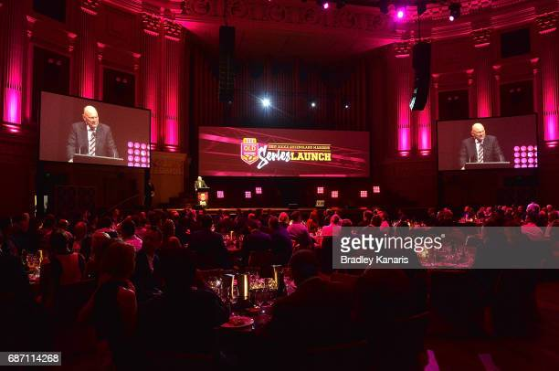 A general view is seen during the Queensland Maroons State of Origin official launch at the Brisbane City Town Hall on May 23 2017 in Brisbane...