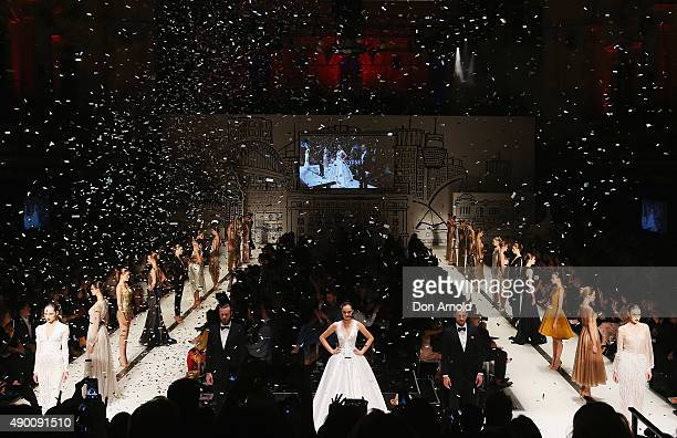 A general view is seen during the Red Carpet show at MercedesBenz Fashion Festival Sydney 2015 at Sydney Town Hall on September 26 2015 in Sydney...