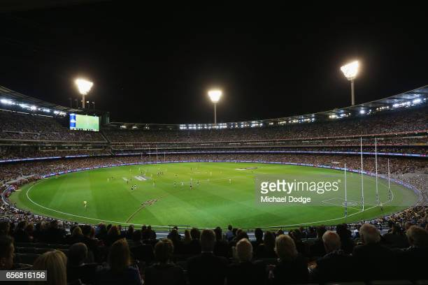 A general view is seen during the round one AFL match between the Carlton Blues and the Richmond Tigers at Melbourne Cricket Ground on March 23 2017...