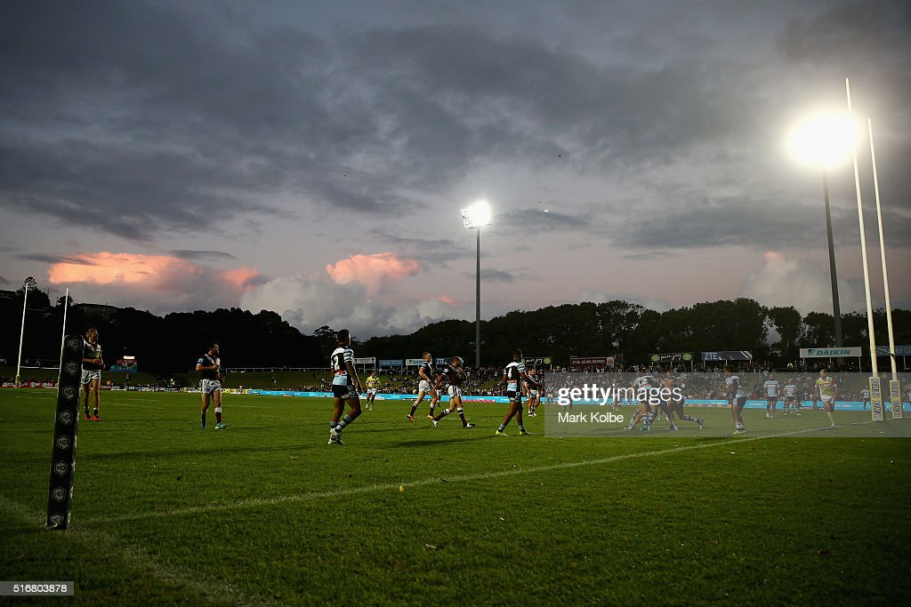 A general view is seen during the round three NRL match between the Manly Sea Eagles and the Cronulla Sharks at Brookvale Oval on March 21, 2016 in Sydney, Australia.