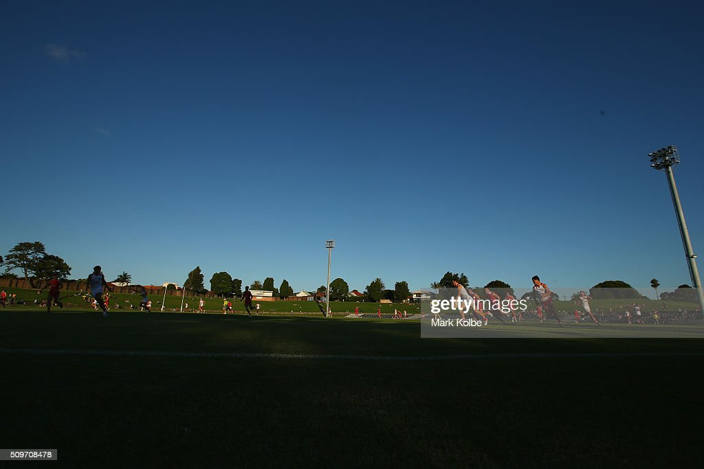 A general view is seen during the Sydney Swans AFL intra-club match at Henson Park on February 12, 2016 in Sydney, Australia.