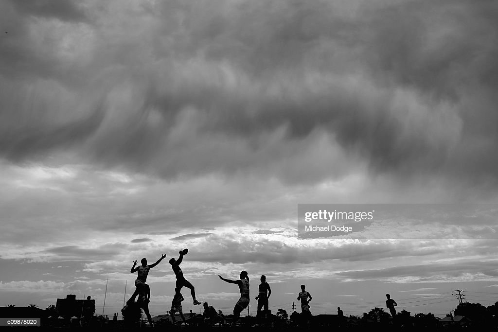 A general view is seen during the Western Bulldogs AFL intra-club match at Whitten Oval on February 13, 2016 in Melbourne, Australia.