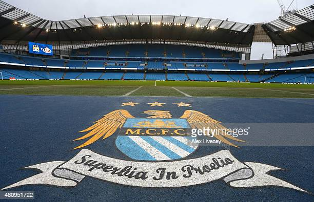 A general view is seen inside the Etihad Stadium prior to the Barclays Premier League match between Manchester City and Sunderland at Etihad Stadium...
