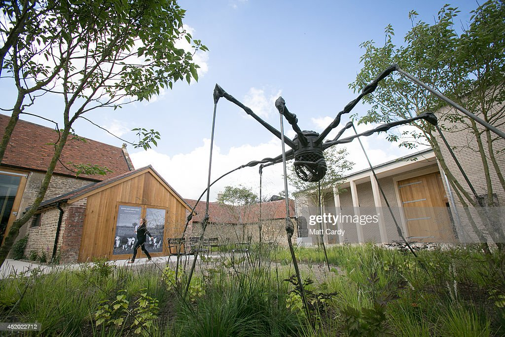 A general view is seen of Louise Bourgeois' Spider in the grounds of Hauser Wirth Somerset in Bruton on July 11 2014 in Somerset United Kingdom One...
