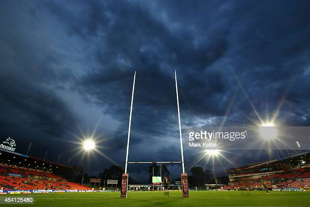 A general view is seen of Sportingbet Stadium during the Toyota Cup match before the round 24 NRL match between the Penrith Panthers and the...