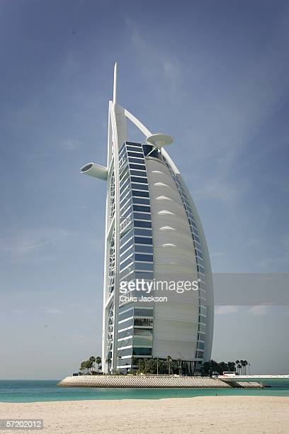 A general view is seen of the Burj Al Arab Hotel on March 28th 2006 in Dubai