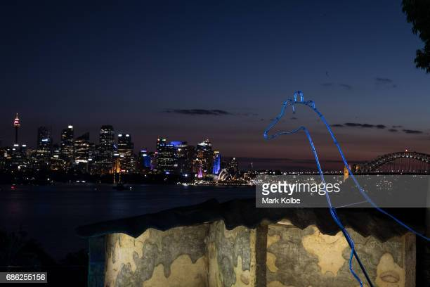 A general view is seen of the city from Taronga Zoo during a media call ahead of Vivid Sydney at Taronga Zoo on May 21 2017 in Sydney Australia
